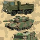 F Toys Kaiyodo Chibi Suke Scale JGSDF Vehicles Set of 7 Truck Tank Soldier