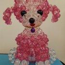"Handmade Round Beads #8 Transparent PINK Dog Figure 6.5"" H / 16 cm H"