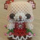 """Handmade Round Beads Bears Figure Mascot 2.5"""" H / 6 cm H"""