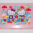 USED 2002 Sanrio Hello Kitty & Mimmy Plastic Box W/ MARKS & SCRATCHES
