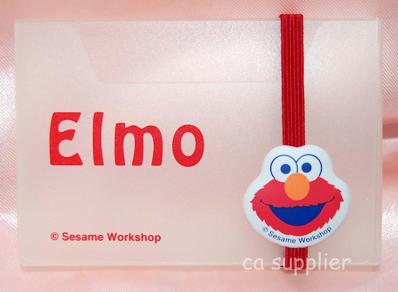 "Seasame Workshop Elmo Plastic Namecard Card Holder 3-5/8"" x 2-3/8"" x 3-8"" thk"