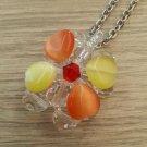 Handmade Beaded Jewelry Pendant - Round & Heart Shaped Plastic Beads #03