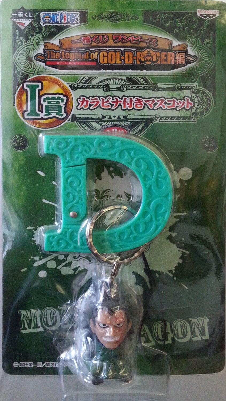 Banpresto One Piece The legend of Gol-G-Roger Carabiner Monkey D Dragon Keychain