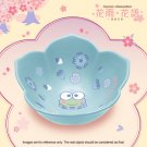 HK 7-11 Sanrio Blossom in the Flower Season Blue Ceramic Bowl Floral Collection Kero Kero Keroppi