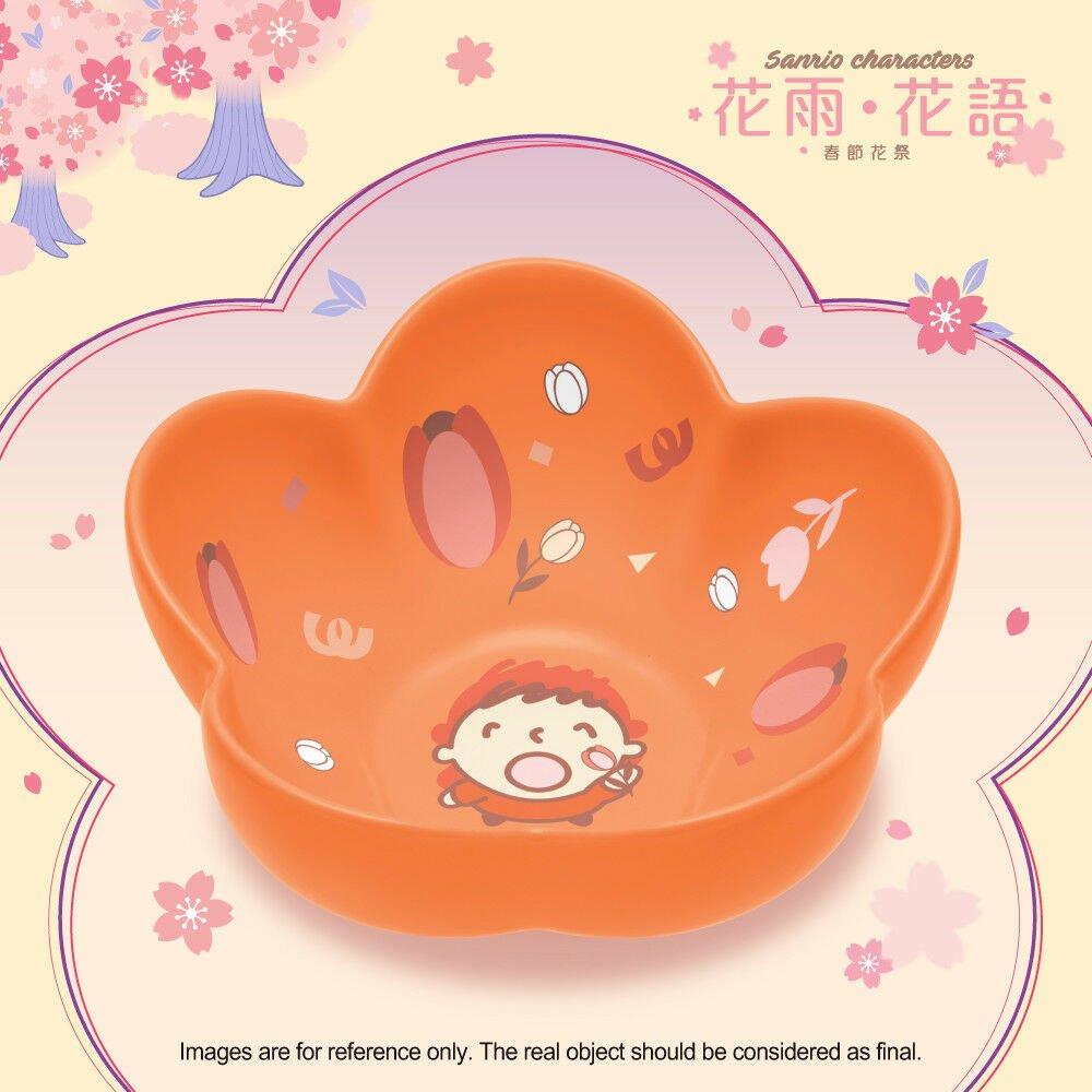 HK 7-11 Sanrio Blossom in the Flower Season Blue Ceramic Bowl Floal Collection Mina No Tabo