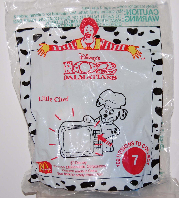 McDonald's Disney Happy Meal Toy 102 Dalmatians Dog #7 Little Chef