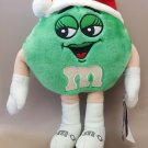 "M&M's GREEN Chocolate Lady Plush Doll 11""H Christmas Hat SOUND OUT OF FUNCTION"