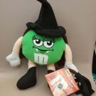 "M&M's GREEN Chocolate Halloween Plush Doll 8"" H SOUND OUT OF FUNCTION"