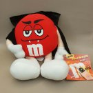 "M&M's RED Chocolate Halloween Plush Doll 9"" H SOUND OUT OF FUNCTION"