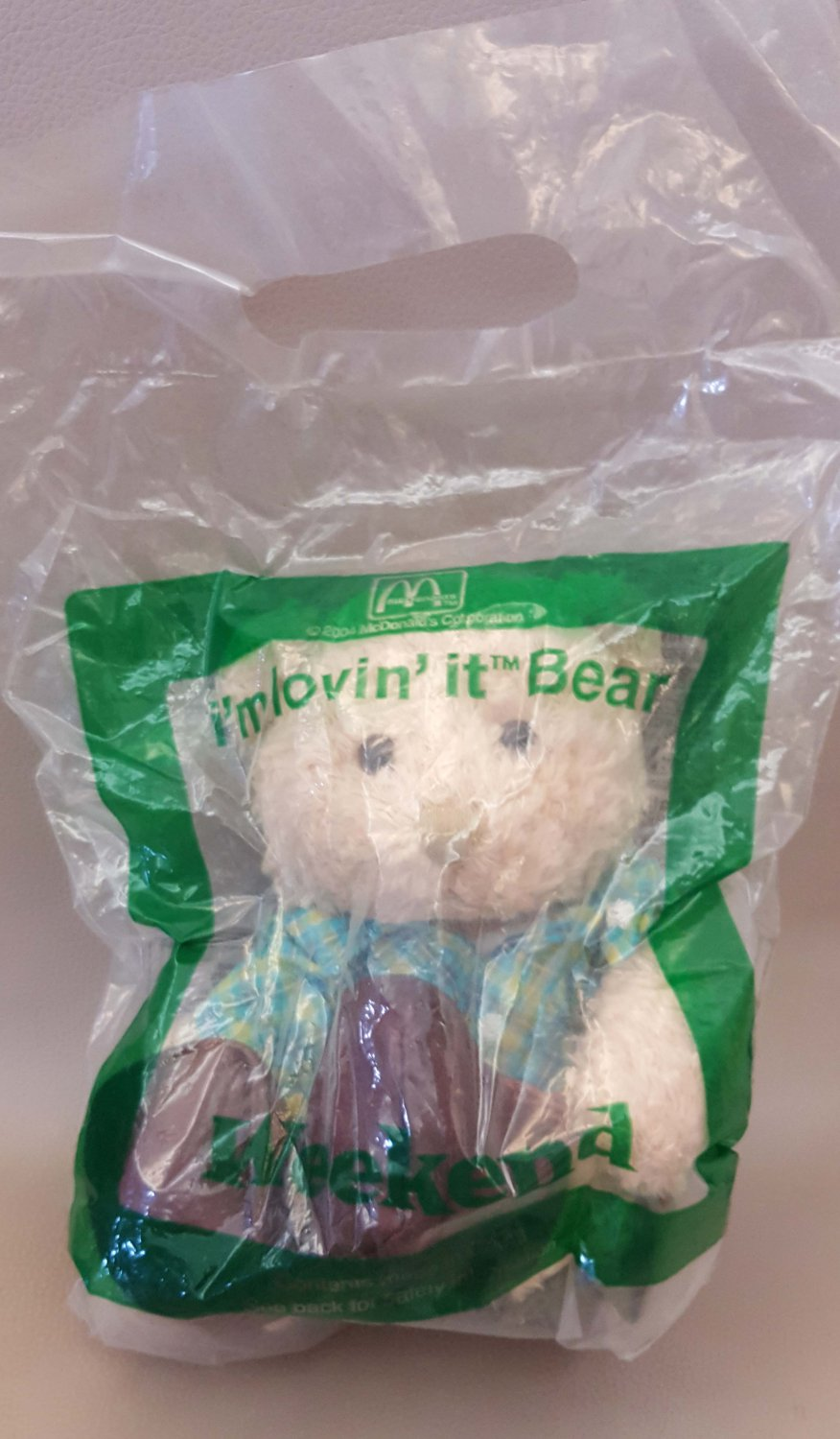"McDonald's Bear Plush Doll - Weekend 8"" H / 20 cm H"
