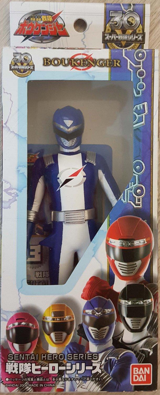 "GoGo Boukenger Power Rangers Figure Sentai Hero Series BLUE 6"" H NEW"
