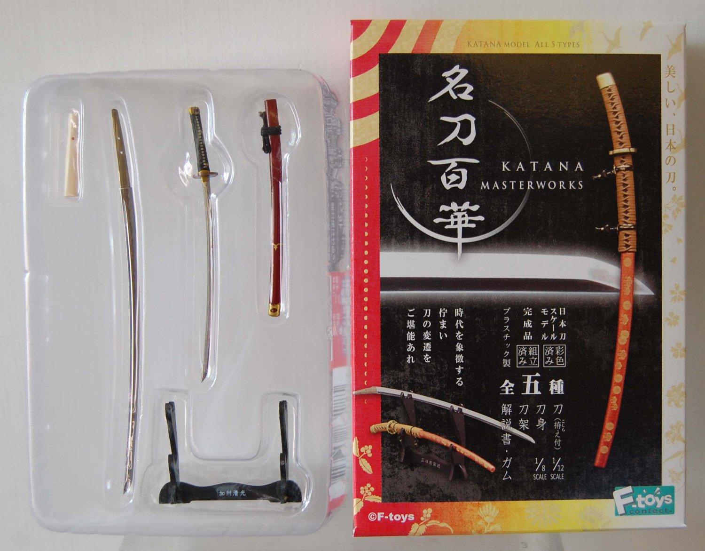 "F Toys Katana Masterworks Japanese Samurai Sword Knife Model #4 Kashukiyomitsu 3"" ~ 4.5"" L"