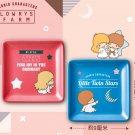 7-11 Sanrio Characters Lowrys Farm Ceramic Plate 2 nos - Little Twin Stars Kiki & Lala