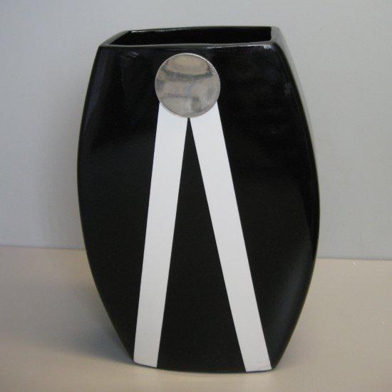 Elegant Black Ceramic Vase 60469