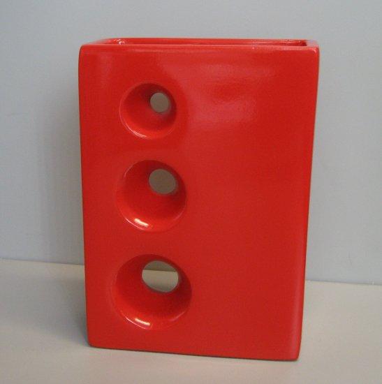 Bright Red Ceramic Vase 60184
