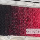 Red and Black Ombré Scarf