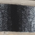 Crocheted Black & White Ombré Scarf