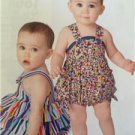 # Simplicity Sewing Pattern 1594 Baby Infant Romper Shoes Size XXS-L New