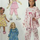 Butterick Sewing Pattern 6277 Toddlers/Childrens Top Dress Gown Size 2-5 New