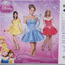 Simplicity Sewing Pattern 1553 Misses Costume Disney Princess Size 6-12 New