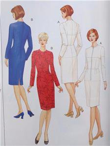 Butterick Sewing Pattern 5627 Ladies Misses Fitting Shell & Dress Size 12 New