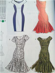 Vogue Sewing Pattern Vogue Easy Options 8948 Misses Petite Dress Size 12-20 New