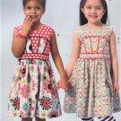 McCalls Sewing Pattern 6945 Children Girls Dresses Leggings Hairbow Size 2-5 New