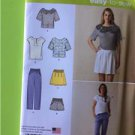 # Simplicity Sew Pattern 1377 Misses Ladies Top Pants Shorts Skirt Size 6-14 New