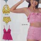 McCalls Sewing Pattern 7168 Misses Ladies Swimsuis Size 6-14 New