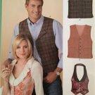 New Look Sewing Pattern 6839 Misses Mens Vest/Waistcoat Size 8-18 XS-XL New