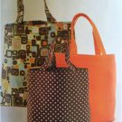 Kwik Sew Sewing Patterns 3597 Unlined Bags Three Sizes S-L New
