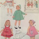 """Simplicity Sewing Pattern 2454 16-18"""" Doll Clothes Vintage Dress Jumper New"""