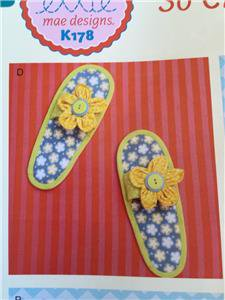 Ellie Mae Designs Sewing Pattern K0178 K608 So Chic Slippers Size S-XL New