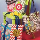 Ellie Mae Designs Sewing Pattern K0195 Patchwork Bags Size O/S New