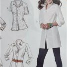 McCalls Sewing Pattern 6124 Ladies Misses Shirts Three Lengths Size 8-16 New