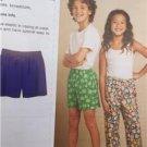 Kwik Sew Sewing Pattern 3589 Child Boys Girls Sleep Pants Shorts Size 6-10 New