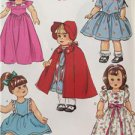 "Butterick Sewing Pattern 6149 18"" Doll Clothes 1964 Retro Cape Dress New"