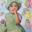 Butterick Sewing Pattern 5624 Baby Infant Dress Panties Romper Size NB-MD New