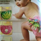 ** Ellie Mae Designs Sewing Pattern K0102 Baby Infant Diaper Covers Size XS-XL