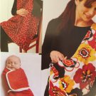 Kwik Sew Sewing Patterns 3734 Baby Swaddler Sling Carrier Nursing Cover New