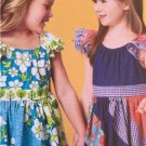 **Ellie Mae Designs Sewing Pattern K0184 Girls Swirly Girly Dresses Size 3-10