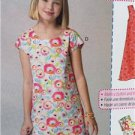 McCalls Sewing Pattern 7111 Girls Childs Dresses Belt Size 7-14 New