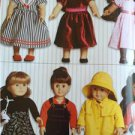 "Kwik Sew Sewing Patterns 2921 18"" Doll Clothes Raincoat Leggings Dress New"