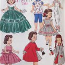 "Butterick Sewing Pattern 5865 18"" Doll Clothes Retro 1956 Wardrobe New Dress"