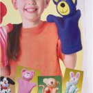 Butterick Sewing Pattern 4209 Hand Puppets Pig Rabbit Cat Monkey Mouse New