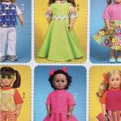 "McCalls Sewing Pattern 7106 18"" Doll Clothes Pants Skirt Tops Shorts New"