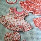 ** Ellie Mae Designs Sewing Pattern K0198 Baby Infant Panties Dress Size S-XXL