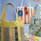 **Ellie Mae Designs Sewing Pattern K0177 Pretty Pieced Purses Lined Handbags New