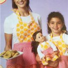 "Ellie Mae Designs Sewing Pattern K0172 Misses Girls 18"" Doll Matching Aprons New"