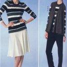 McCalls Sewing Pattern 7059 Misses Vest Jacket Tops Skirt Pants Size 6-14 New